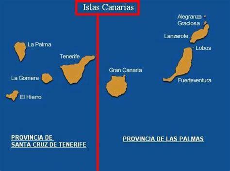 Las provincias de las Islas Canarias   Tamaño completo