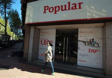 Las sucursales del Banco Popular operan con total ...