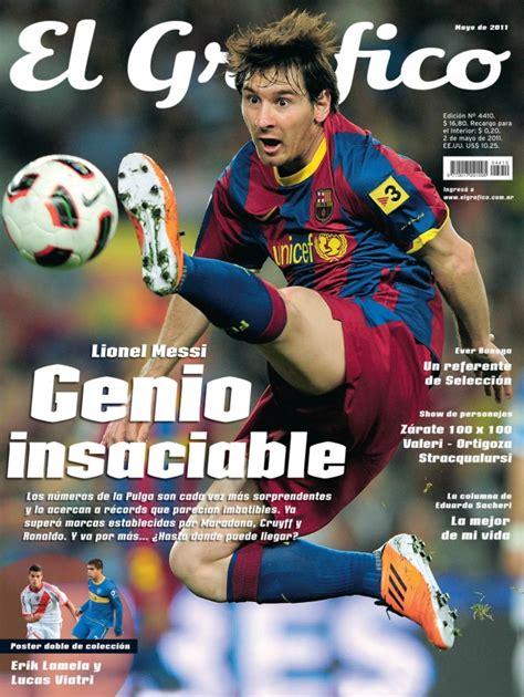 Las tapas de Messi en El Gráfico