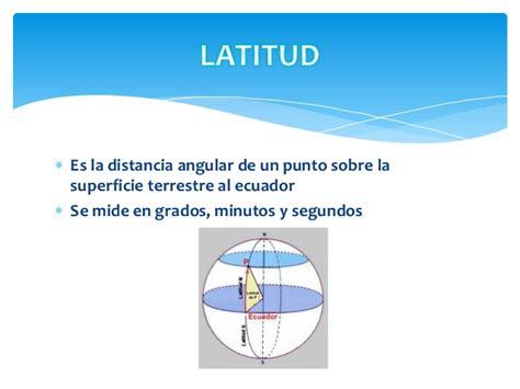 Latitud, altitud y longitud