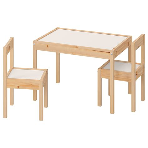 LÄTT Children s table with 2 chairs   white, pine   IKEA