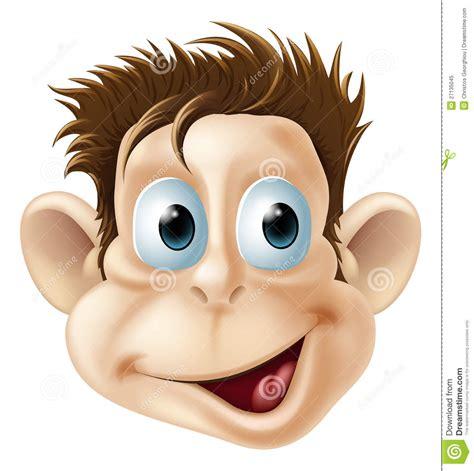 Laughing Happy Monkey Face Cartoon Royalty Free Stock ...