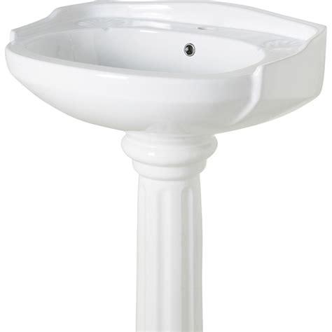 Lavabo pour colonne en céramique, blanc Retro | Leroy Merlin