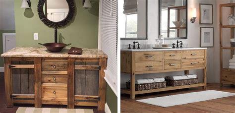 Lavabos de estilo rústico para el baño