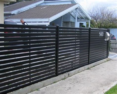 Layout Metal Fence Ideas 12 Steel Fence Designs Steel Slat ...