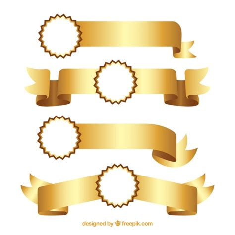 Lazos dorados elegantes | Descargar Vectores gratis