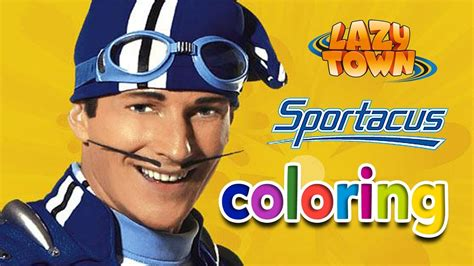Lazy Town SPORTACUS: Coloring Games   Gameplay   YouTube