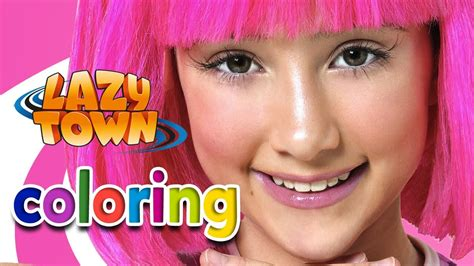 Lazy Town STEPHANIE: Coloring game   Gameplay   YouTube