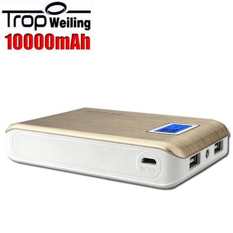 LCD 18650 caja de banco de la energía 10000 mah batería ...
