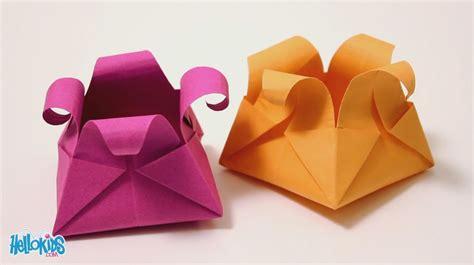 Le panier origami  Hellokids    YouTube