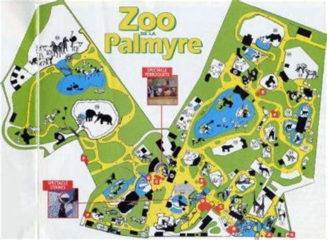 Le plan   zoo de la Palmyre