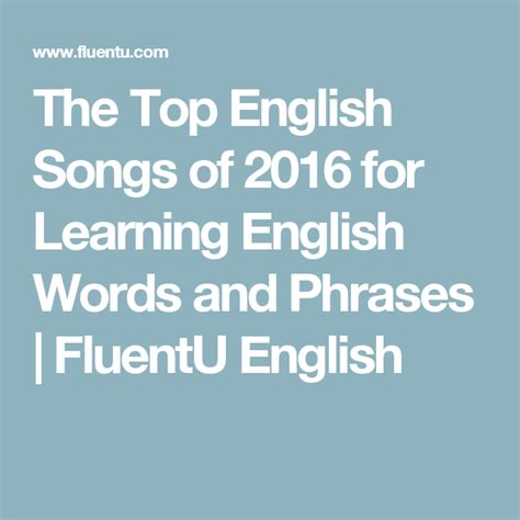 Learn English with Songs: 8 Famous Pop Music Hits  With ...