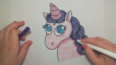Learn How to Draw A Cute Pink Unicorn    iCanHazDraw ...