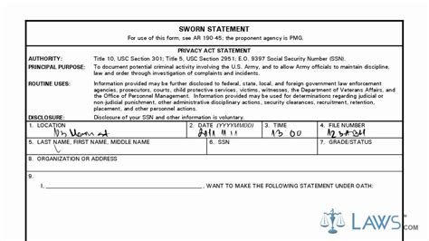 Learn How to Fill the DA form 2823 Sworn Statement   YouTube