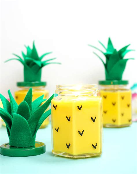 Learn To Make This Pretty DIY Pineapple Candles + Free ...