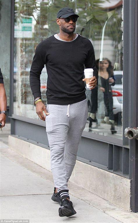 LeBron James wears tight sweatpants as he grabs coffee in ...