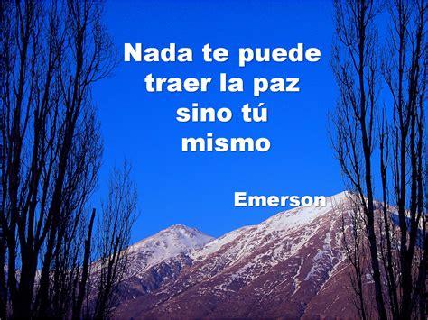 Lecciones para amar: Frase célebre sobre la paz de Emerson