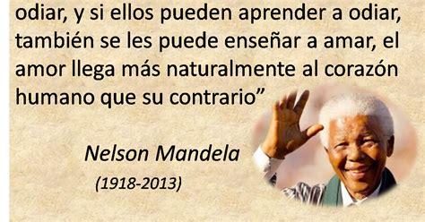 Lecciones para amar: Frase de Nelson Mandela sobre el amor