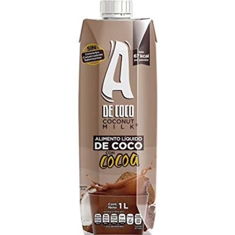 Leche de Coco Sabor Cacao Marca A Coco 1lt | VidaNatura Chile