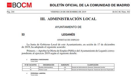 Leganés oferta 55 plazas de empleo público