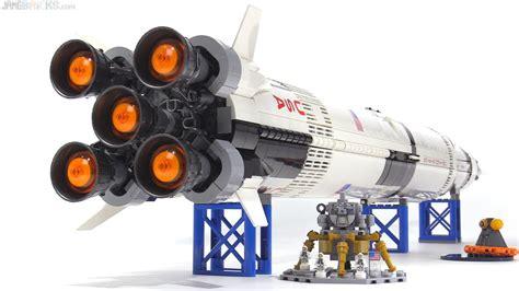 LEGO Ideas NASA Apollo Saturn V set review! 21309   YouTube