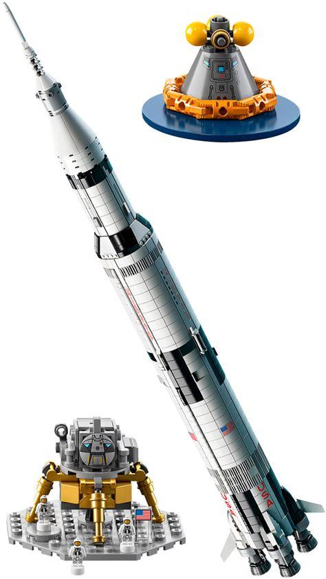 LEGO s 1,969 Piece Saturn V Rocket Set Stands Over 3 Feet ...