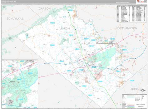 Lehigh County, PA Wall Map Premium Style by MarketMAPS