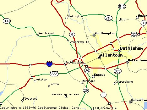 lehigh county pennsylvania map | ... in lehigh county pa ...