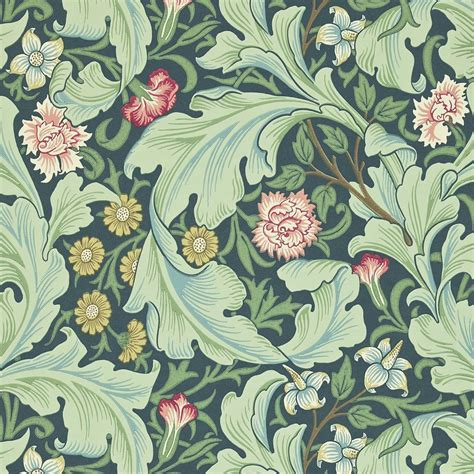 Leicester Wallpaper   Woad/Sage  212541    William Morris ...