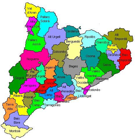 Les comarques de Catalunya   El jardí de 4t B