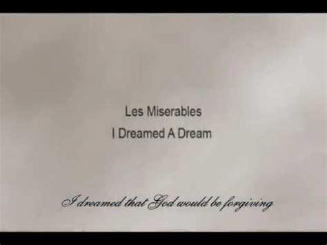 Les Misérables   I Dreamed A Dream  with Lyrics    YouTube