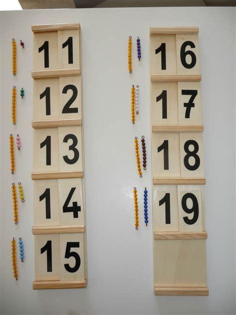 Les nombres de 11 à 19 avec la première table de Seguin ...