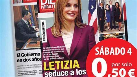Letizia portada de  Diez Minutos  que llega el sábado con ...