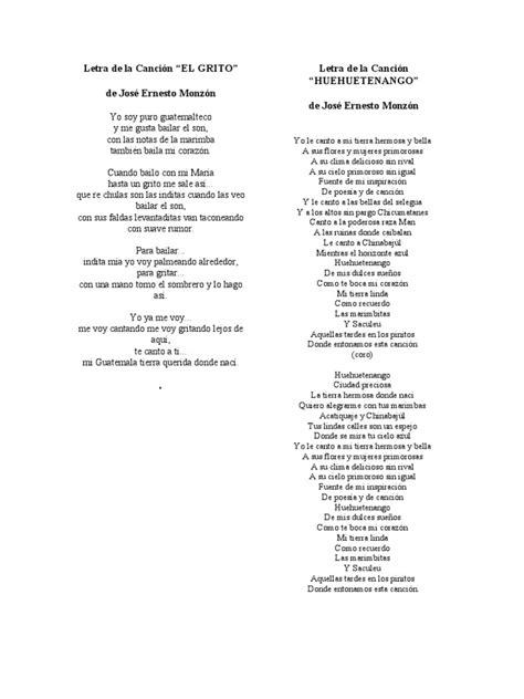 Letra de la Canción