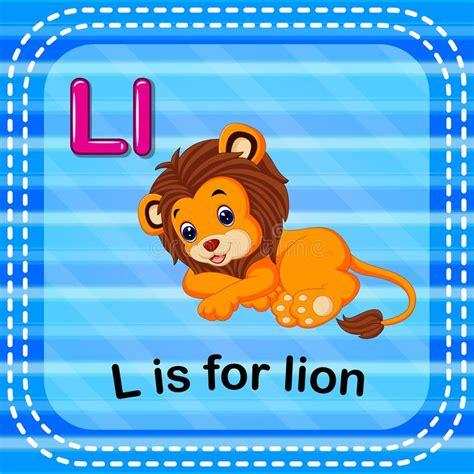 Letra L Alfabeto De Lion Zoo ABC Inglés Con Las Tarjetas ...