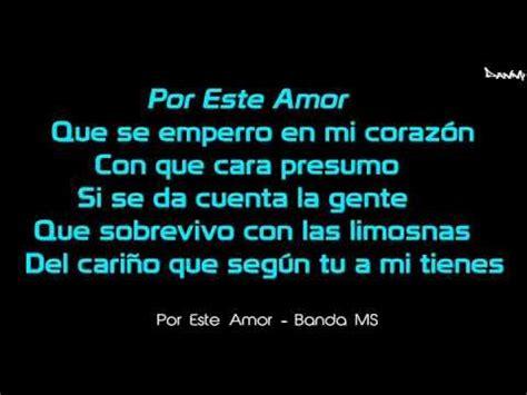 Letra   Por Este Amor    Banda MS | Letras de canciones ...
