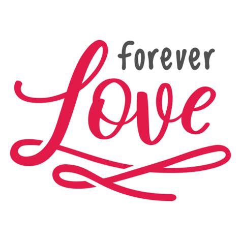 Letras de amor para siempre   Descargar PNG/SVG transparente