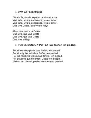 Letras De Canciones De Misa Para Niños   Hay Niños