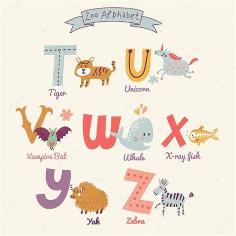 Letras del alfabeto cute zoo — Archivo Imágenes ...