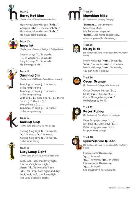 Letterland Alphabet Songs – Lyrics | Alphabet songs ...