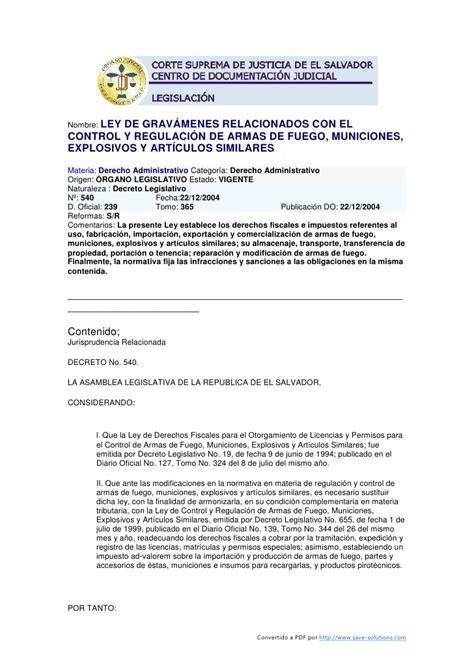 Ley de gravámenes relacionados con el control y regulación ...