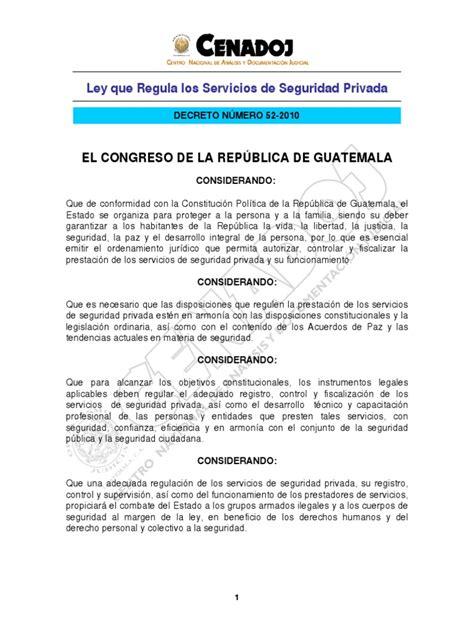 Ley de Servicios de Seguridad Privada | Liquidación ...