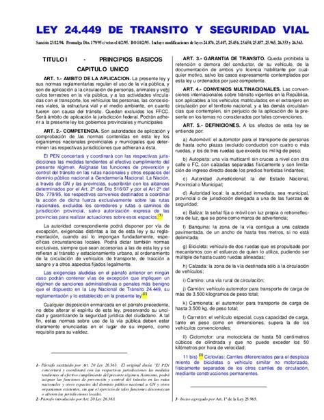 Ley de transito 2017 pdf