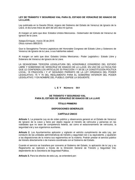 Ley de Transito y Seguridad Vial Veracruz_30 Marzo 2015 ...