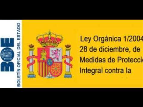 Ley Orgánica 1/2004, de Medidas de Protección Integral ...