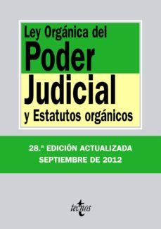 LEY ORGANICA DEL PODER JUDICIAL  28ª ED.  | VV.AA ...
