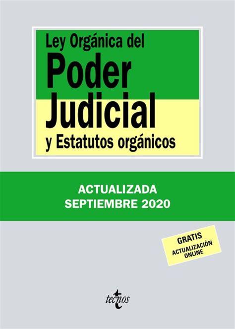 Ley orgánica del poder judicial   Distribuciones Cimadevilla