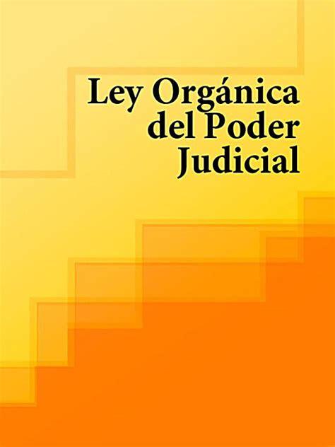 Ley Organica del Poder Judicial: ebook jetzt bei Weltbild.de