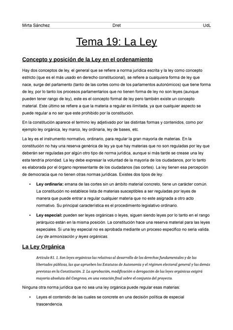 Ley Organica Y Ley Ordinaria Ejemplos   Colección de Ejemplo