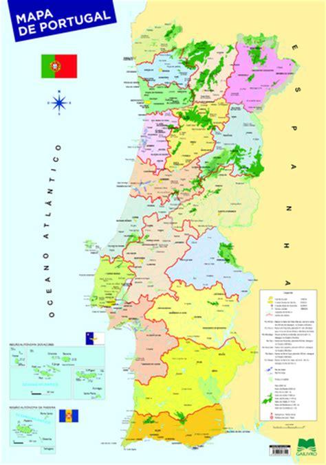 Leyaonline   Mapa De Portugal  70 X 100    AUTORES, VÁRIOS